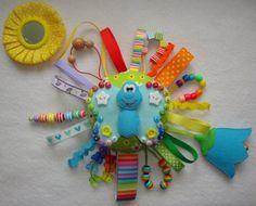 Nastro occupato regalo bambino Anthocharis campana tag sviluppo giocattolo sensoriale Rattle educativo giocattolo ginepro