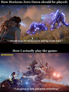 How Horizon: Zero Dawn should be played Vs How I played it...