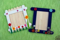 Craft stick frames