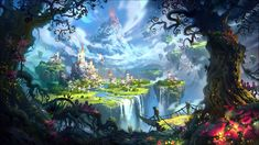 Tagged with wallpapers, fantasy, wallpaper dump; Shared by Wallpaper Dump: Fantasy Nonsense (Part Fantasy Magic, World Of Fantasy, Fantasy Places, Fantasy City, Magic Art, Fantasy Art Landscapes, Fantasy Landscape, Landscape Pics, Fantasy Concept Art