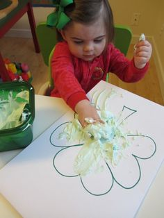 St. Patrick's Day Sensory Play & Craft - No Time For Flash Cards