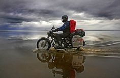 Riding the Bullet - from Austria to Sweden, Norway and Iceland! Driving in the sea, south of Iceland.