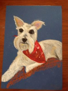 #Art #Pets #Dogs #Schnauzer #Paintings oil on canvas by #artist, #Kinga #Syrek of #Sissie