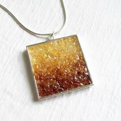 Amber Mosaic Pendant by GrayRavenDesigns on Etsy