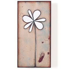 "Jenn Bell Tile Collection ""Petite Pansy"" enamel on copper, available in 3 colors. The back has a wood cleat for easy hanging. 3"" x 6"" Jenn Bell creates her copper and enamel art in Scranton, PA. The s"