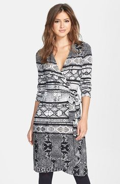 713db797df4797 BCBGMAXAZRIA Snakeskin Print Matte Jersey Wrap Dress available at   Nordstrom Latest Fashion Trends