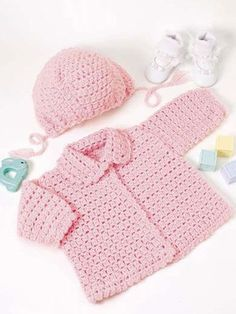 Pink Hat and Sweater free pattern on Free Crochet.com at http://www.free-crochet.com/detail.html?free_video=1=FC00135=pntrsta