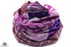 Loop Schal Blumen lila - ein Unikat aus der Lieblingsmanufaktur