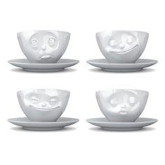 Wer ein Geschenk für einen Kaffeeliebhaber sucht, mit dem man eigentlich nur richtig liegen kann, sollte sich diese Kaffeetassen für jede Laune genauer ansehen! Die sympathischen Charakterköpfe sind für jeden Kaffeetrinker eine witzige Aufmerksamkeit, denn eine der zur Auswahl stehenden Stimmungslagen passt mit Sicherheit!