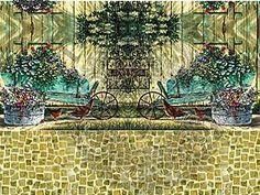Декупажные карты для чайных домиков.   Ярмарка Мастеров - ручная работа, handmade Painting, Art, Art Background, Painting Art, Kunst, Paintings, Performing Arts, Painted Canvas, Drawings