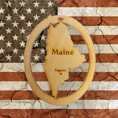 Beautifully Handcrafted Maine Christmas Ornament! Personalized Free!