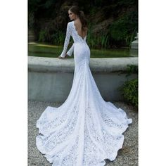 Lace Wedding Dresses found on Polyvore