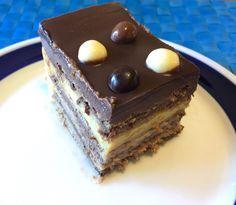 Tarta de la abuela fácil o tarta de galletas, chocolate y flan – El tiovivo rojo. Cocina con y sin Thermomix