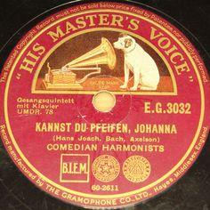 "COMEDIAN HARMONISTS ""Kannst du pfeifen, Johanna"" Berlin April 1934 HMV #78rpm"