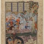 """Folio from a """"Shahnameh"""": The Death of Rustam and His Killing   Shaghad"""