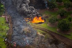 The Lava Erupting From Kilauea Keeps Inching Closer Moving for weeks, the lava flow from the Kilauea volcano continues to move towards the village of Pahoa and was clocked at speeds of up to 14 metres and hour.   http://funfactualweirdbreathtaking.blogspot.com/2014/10/the-lava-erupting-from-kilauea-keeps.html  #volcano #lava #hawaii #kilauea
