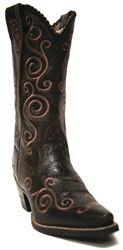 Ariat Women's Shellen Port Brown & Pink Scroll Boots Cowboy Girl, Cowgirl Style, Cowgirl Boots, Women's Boots, Next Boots, Country Girl Style, Country Girls, Brown Boots, Me Too Shoes