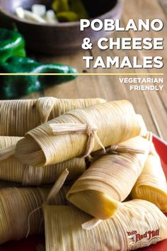 Who says vegetarians can't enjoy tamales? Make these vegetarian poblano pepper & cheese tamales for Cinco de Mayo. The flavor combination will light up everyone's taste buds, vegetarian or carnivore! Get the recipe here: Tamale Recipe, Cheese Stuffed Peppers, Stuffed Poblano Peppers, Dinner Ideas, Dinner Recipes, Monday Inspiration, Meatless Monday, Taste Buds