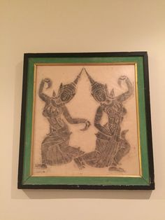A temple rubbing that my grandmother and great grandmother made on rice paper in Thailand in the 1950's.