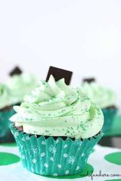 Homemade Minty Chocolate Cupcakes - Deliciously Sprinkled