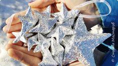 Объемная новогодняя звезда из картона и фольги своими руками