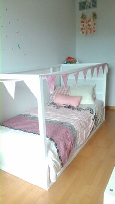 For my little princess: kura bed ikea hack