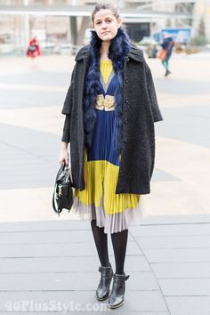 Streetstyle inspiration: why not add some color to the dark winter?  |   40+ Style