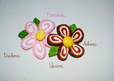 Como hacer flores para diferentes usos, tecnica sencilla y bella, son excelentes ara degradados de color.