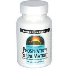Source Naturals, Phosphatidyl Serine Matrix, 60 Softgels
