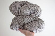 Bulky weight, naturally fawn grey Merino/Corriedale handspun yarn. Super Bulky Yarn, Needles Sizes, Knitting Needles, Wool Yarn, Yarns, My Etsy Shop, Weaving, Stitch, Crochet