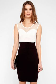 Sweetheart Cap Sleeve Top in Ivory $14 at www.tobi.com Perfect for date night!