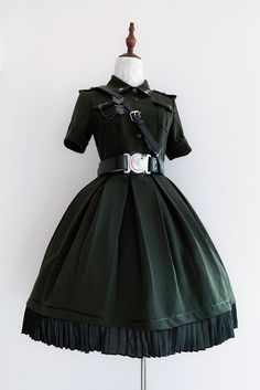Your Highness -The Vow- 2019 Version Military Lolita OP Dress,Lolita Dresses, Kawaii Fashion, Lolita Fashion, Cute Fashion, Pretty Outfits, Pretty Dresses, Beautiful Dresses, Old Fashion Dresses, Fashion Outfits, Lolita Mode