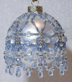Free Beaded Victorian Ornaments Patterns | ... ornament cover price $ 6 00 model 00011593 icey blue swag ornament