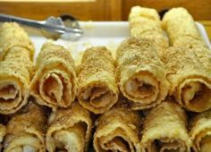 Diples are a common dessert in the Peloponnese region. They are served across all occasions and celebrations without reserve.