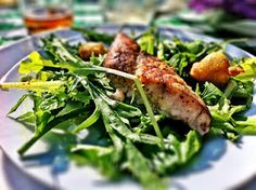 Red Fish with Apricot Chili Butter on Organic Hot House Greens