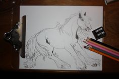 So I've done a Irish Cob once, but lets just say I was young and wasn't all that when it comes to drawing horses, so last night I drew him with some of my new colored pencils and art supplies, feel free to comment artwork by ASPENN F Art Competitions, Draft Horses, Horse Art, Cob, Colored Pencils, Art Supplies, My Drawings, Irish, My Arts