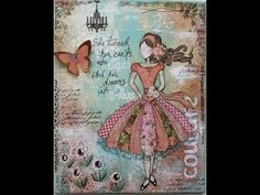 love this style of work. wish i could learn. Mixed Media Journey with Gabrielle Pollacco - YouTube