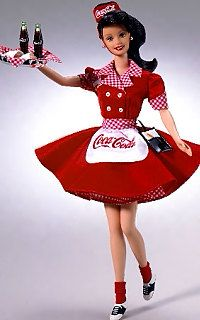 Coca Cola Barbie. Via Robin Dillard
