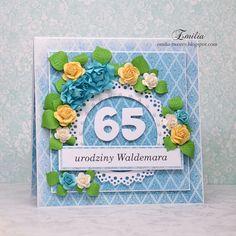 Emilia tworzy: Kartka urodzinowa na 65 urodziny/Birthday card
