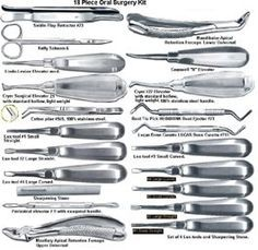 Image Detail for - Pieces Oral Surgery Kit Photo, Detailed about 18 Pieces Oral Surgery ...