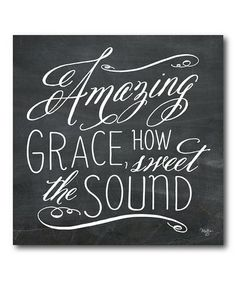Another great find on #zulily! 'Amazing Grace' Gallery-Wrapped Canvas #zulilyfinds