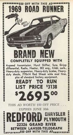 for more vintage cars hot rods and kustoms Hot Rods, Audi 100, Old Advertisements, Car Advertising, Pub Vintage, Vintage Trucks, Us Cars, Old Ads, Road Runner