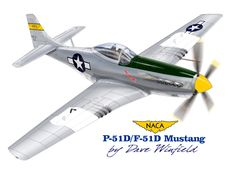 P-51K Mustang NACA 102 - Paper Model Mockup Artwork by Dave Winfield - www.papermodelshop.com