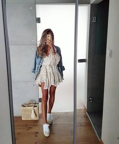 Pretty Summer Dress Total Looks You Will Fall In Love With; One-piece Dress; Pretty Summer Dresses, White Dress Summer, Summer Dresses For Women, Spring Summer Fashion, Spring Outfits, Spring Style, Elegantes Outfit, Stylish Dresses, Dress Casual