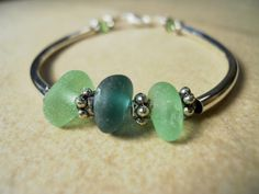 sea glass bracelet