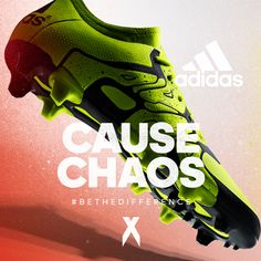 Cause Chaos! The all new adidas X 15.1 is the weapon. Get it here: http://bit.ly/1LGCUoy