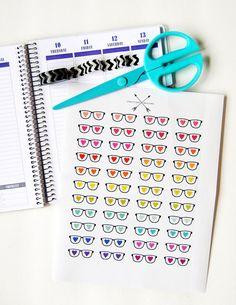 Nerd Love Glasses Planner Sticker Set