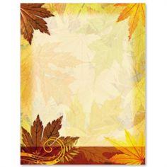 Turning Leaves Letter Paper | Idea Art Autumn Art, Autumn Theme, Computer Paper, Printable Paper, Turning, Stationary, Printables, Lettering, Wallpaper