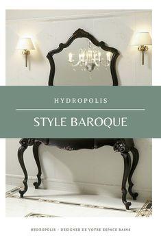 Le Style #Baroque, c'est l'expression des siècles passés. Retrouvez toute l'élégance des dorures, des ornements, des rideaux dans votre salle de bains. #Deco #Home #Retro #Gold #Inspiration #Salledebains #rococo #baroque