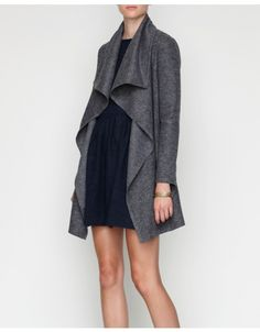 which we want | draped wool jacket